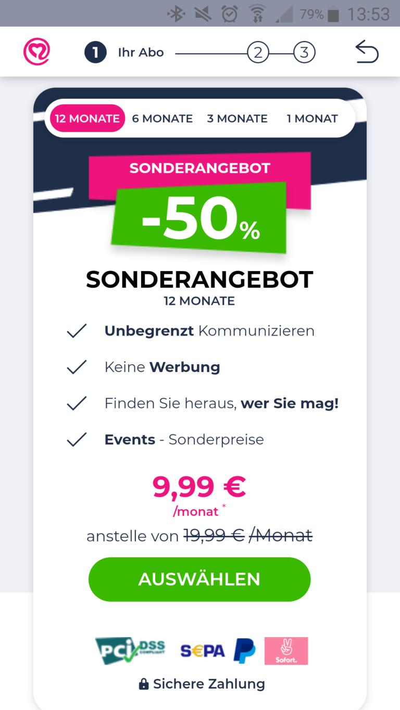 Single.de app kosten