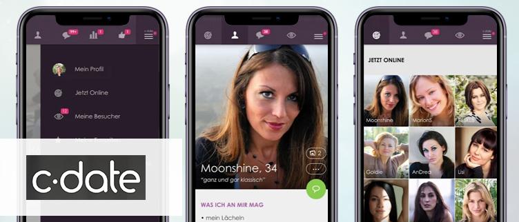 Screenshots C-Date app